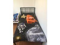 Black argos single bed frame