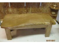 NEW HANDMADE ELM COFFEE TABLE - BEAUTIFUL ONE OFF