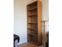 Ikea-style bookcase (similar to Billy) with adjustable height shelves