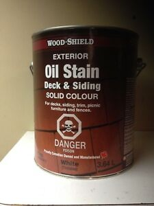 Oil Stain, tintable, stored in house