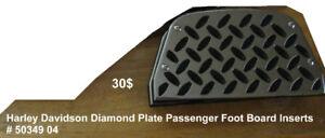 Harley Davidson Diamond Plate Passenger Foot Board Inserts