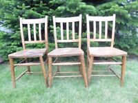 School chairs - old fashioned, solid wood