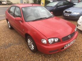 2000 TOYOTA COROLLA 1.4 GS RED 5DR HATCHBACK