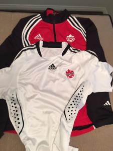 Canada Adidas Soccer Jersey and Track Jacket