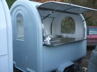 Static Catering Trailer £1000 doube sided trading windows