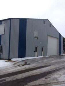 Large shop and office space for rent.