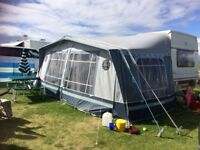 Sunstar Award 1991 Caravan and Isabella awning with extension for sale. £550