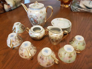 Fisher fine china 6 setting tea set