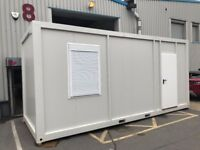 BRAND NEW PORTABLE OFFICE UNIT 20' x 8' / 6m x 2.4m Unit Open plan with heater