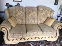 Suite set comprising 3 seater Sofa and 2 chairs for sale 3+1+1