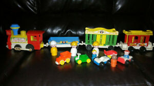 fisher price circus train and bonus free little people and cars