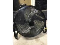Industrial fan (a must for any drummer)