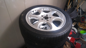 4 alloy rims and tires 18 inch