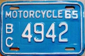 ** Classic Bike? Rare Vintage Motorcycle License Plates **