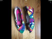 Beverly Feldman Colourful Shoes-Sandals 4UK