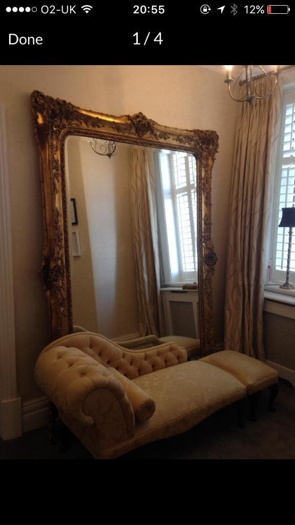 Ornate 7 Foot X 5 Gold Rococo Mirror