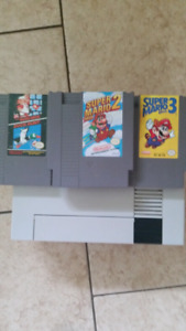 Nintendo nes with games