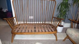 Ercol 2 seat sofa and 2 chairs