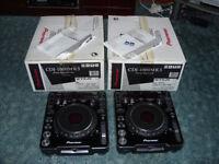 Pioneer CDJ 1000 Mk3 With Original Box, Manuals and SD Cards and Spares. Good condition DJ Decks