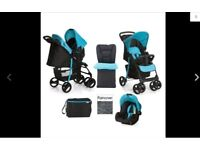 Hauck Shopper Pushchair and Car Seat Travel System + Accessories
