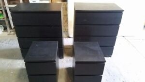 Used good condition 2 dressers, 2 night tables