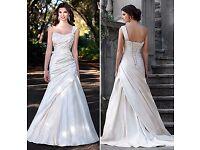 Stunning Essence Of Australia Wedding Dress Ivory Satin D1036 Size 12 PRICE DROPPED!