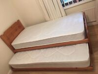 John Lewis £700 Guest Lift-up Trundle Bed, New Mattresses, Free Delivery