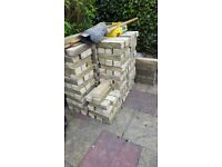 Bradstone type reclaimed garden wall bricks