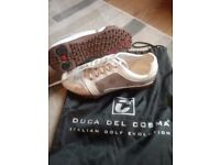 Ladies golf shoes size 6.5 in immaculate condition.they are a italian make duca del cosma.