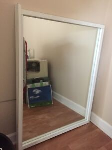 White Framed Mirror-size 4 ft x 3 ft