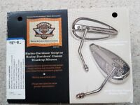 GENUINE HARLEY DAVIDSON TEARDROP MIRRORS AS NEW CONDITION