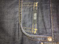 Men's Hugo Boss dark blue jeans, 38 /34 regular fit, worn omce