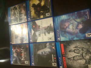 500 GB PS4 with 10 games