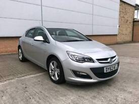 2013 VAUXHALL ASTRA 1.4 SRI TURBO 6 SPEED MANUAL 5 DOOR HATCHBACK SILVER FACELIFT LOW MILEAGE