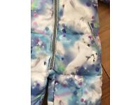 Brand New With Tags Gorgeous Girls Next Unicorn Snowsuit!