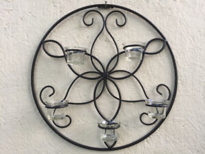 Bombay Wall Wrought Iron Candle Holder