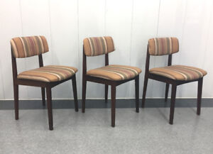 Vintage Walnut Dining Chairs (Teak Style)