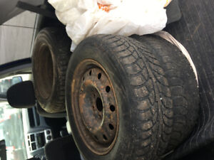 215/65 R16, 4 KINGSTAR winter tires with rims