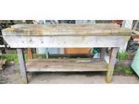 Carpenters pine workbench