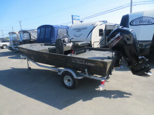 Used 2017 Lowe Roughneck 1760 Center Console with 90hp mercury