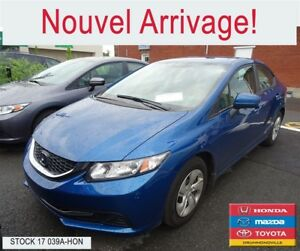 2014 Honda Civic LX+BLUETOOTH+SIEGES CHAUFFANTS+A/C