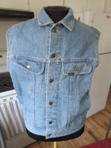 Vintage Lee Jeans cut off jean jacket vest