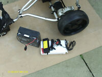 ELECTRIC GOLF TROLLEY WITH BATTERY AND NEW CHARGER