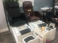 Pedicure Spa Massage Chair + Stool + Pedicure Trolley