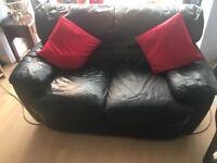 Black leather sofa-bargain £50