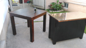 Solid wood bar and pub table 250$ for both