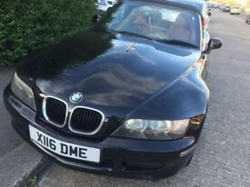 BMW Z3 Roadster, Convertible, Metallic black, Sports Leather seats, £2200