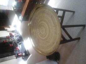 Brass tray with detachable legs