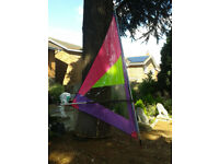 Windsurfer small sail, mast and boom