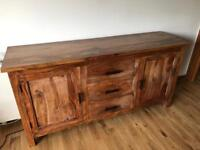 Stylish hard wood sideboard